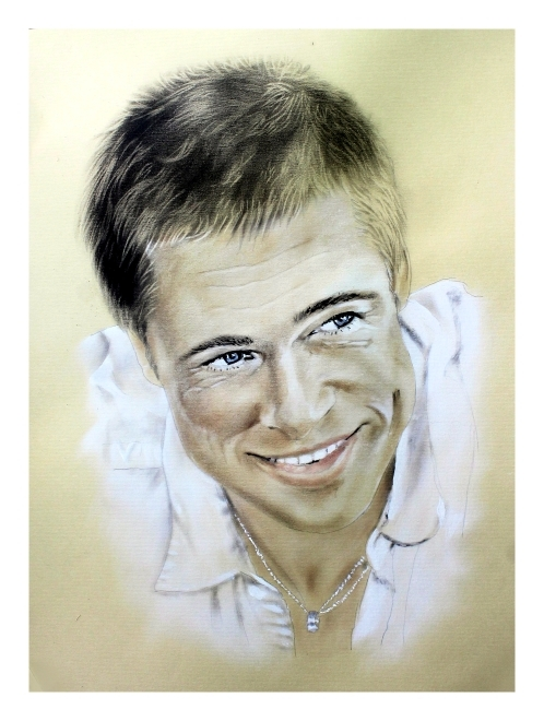 Brad Pitt by burdge12